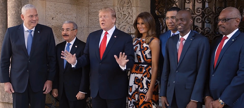 Trump Meets with Caribbean Leaders at Mar-a-Lago.