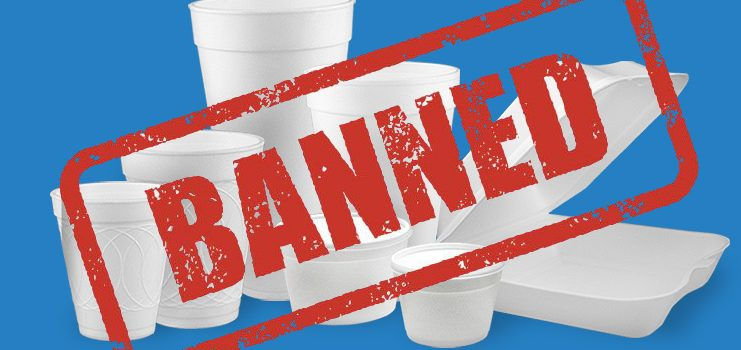 Styrofoam ban after May 31, 2019