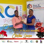 1st place winner Mother Christina Sonson