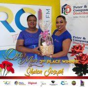 2nd place winner Mother Sharon Joseph