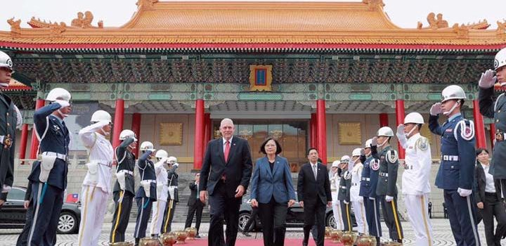 President of Taiwan state visit to Saint Lucia