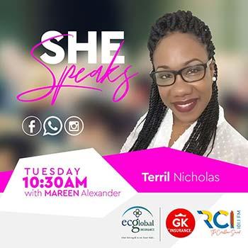 RCI - SHE Speaks   Guest: Terril Nicholas