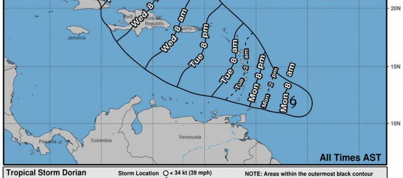 St. Lucia under Storm Warning