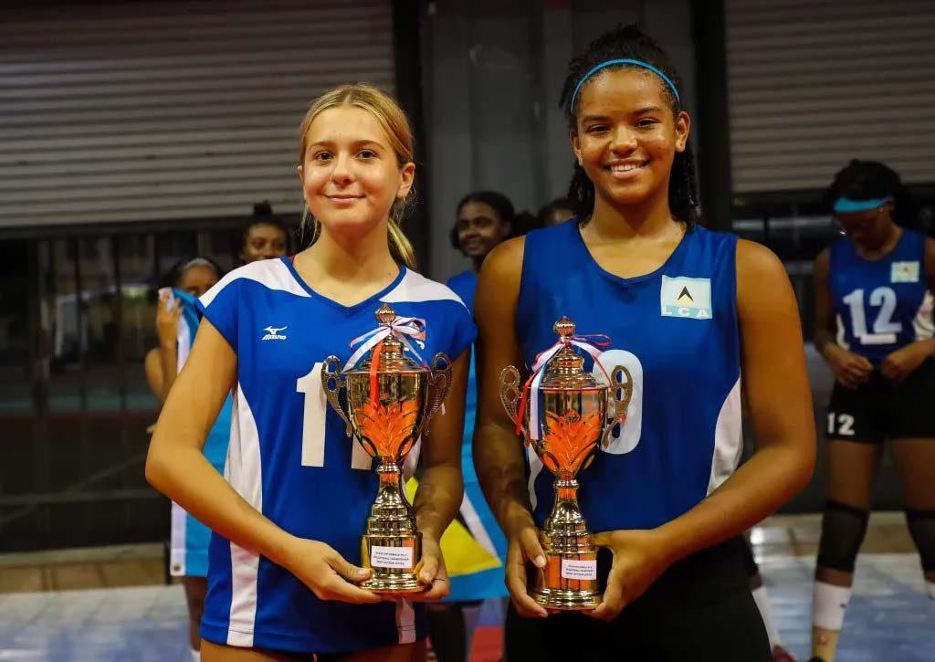 ECVA Women Best Outside Hitter - Daniella Stegmann BER and Clio Phillip LCA
