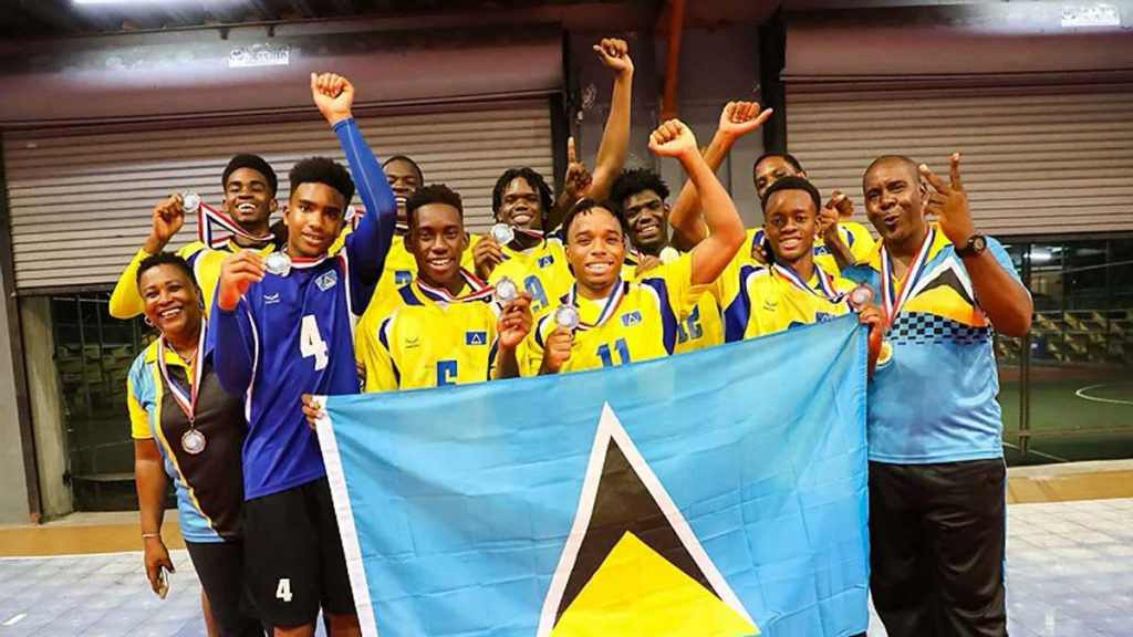 Saint Lucia winning 2019 ECVA U21 Men Team