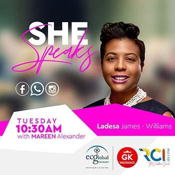 RCI SHE Speaks | Guest: Ladesa James-Williams