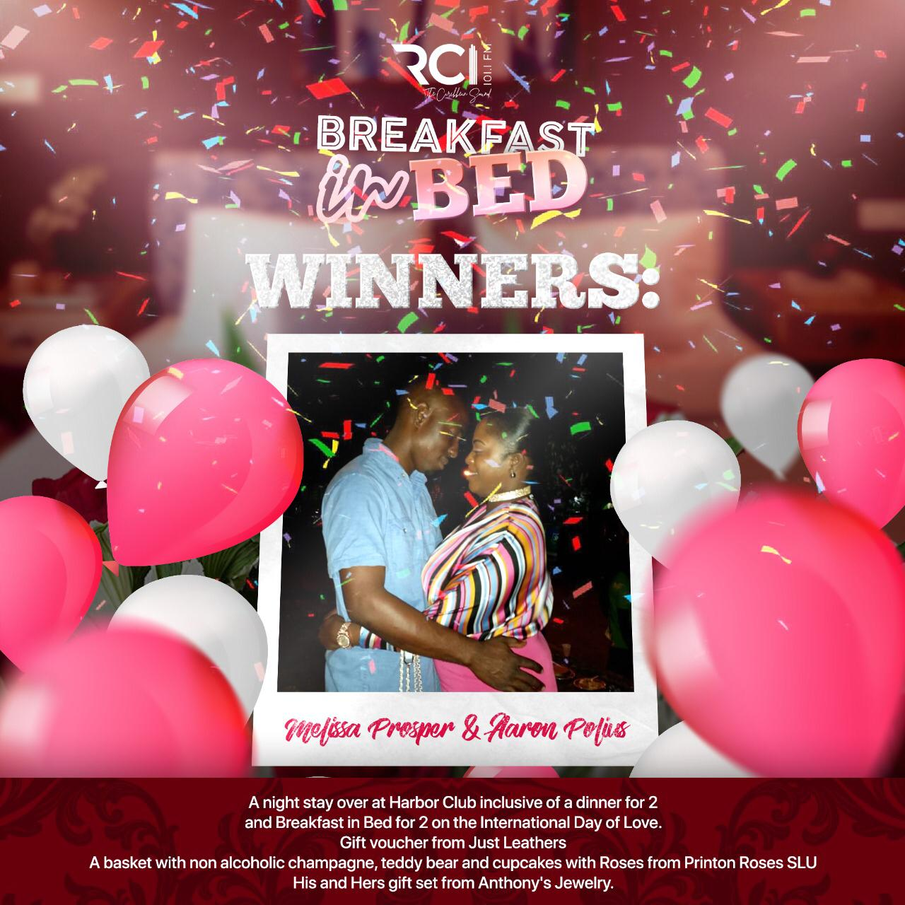 RCI - Breakfast In Bed Winners