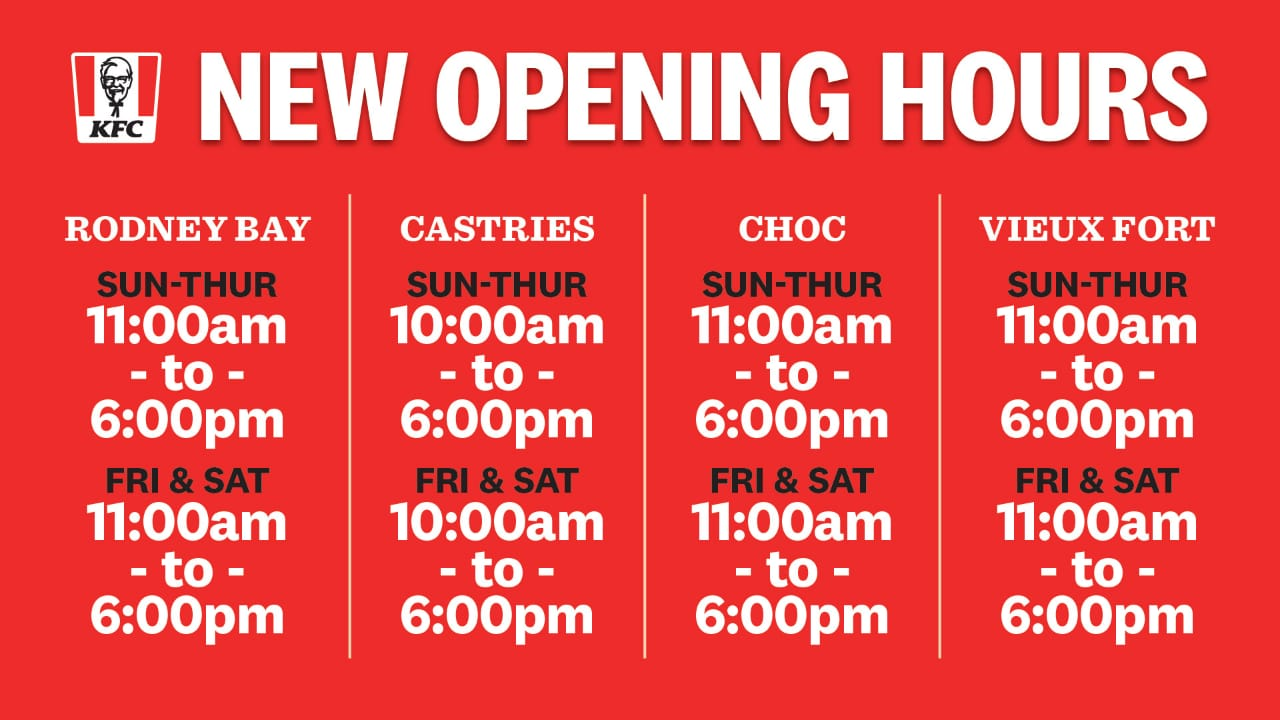 KFC New Hours