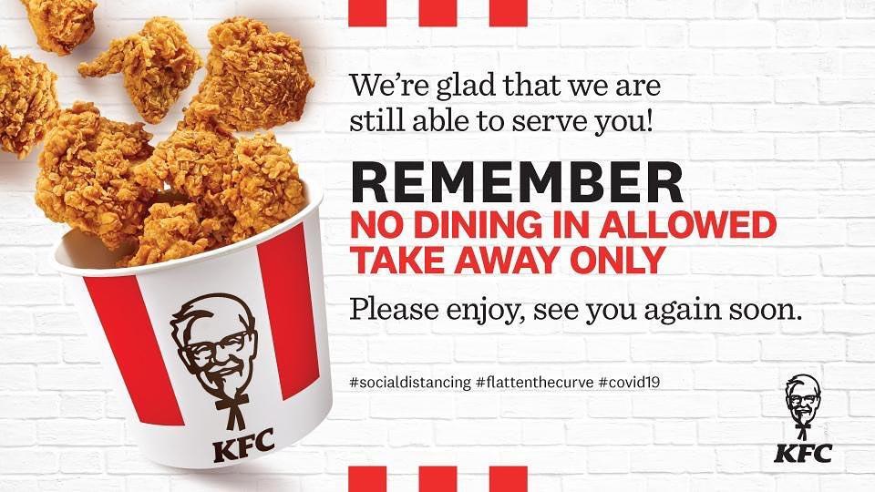 KFC - No Dining