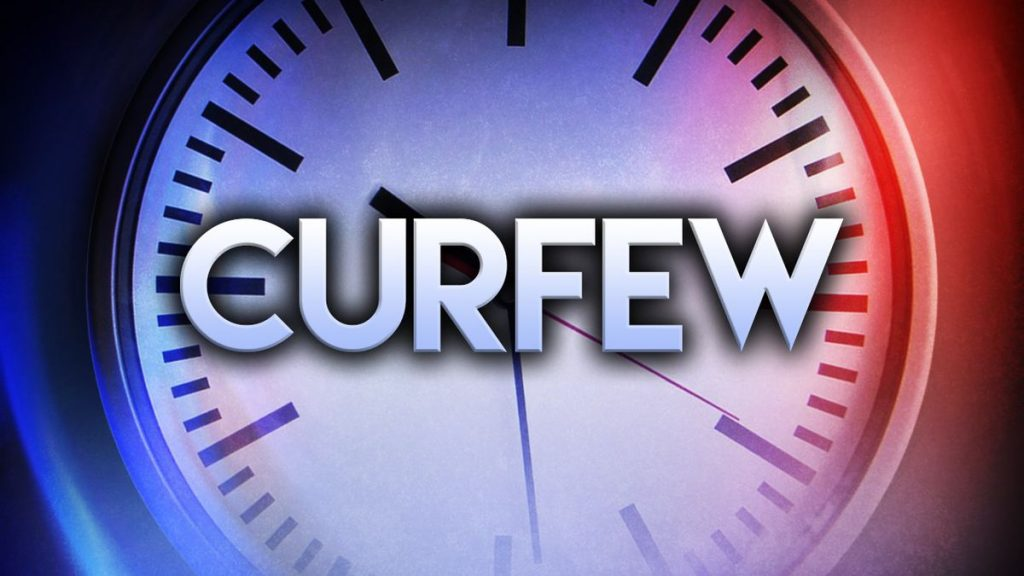 Curfew Adjusted to 9:00PM